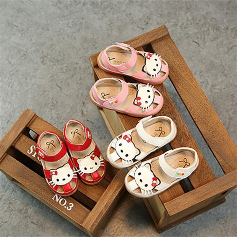 25% Summer cow muscle sandals Children girls Hook&Loop sandals with cute hello kitty 3co ...