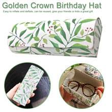 Flower Printed Sunglasses Case Women Handmade Glasses  Leather Lightweight Box Small Fresh