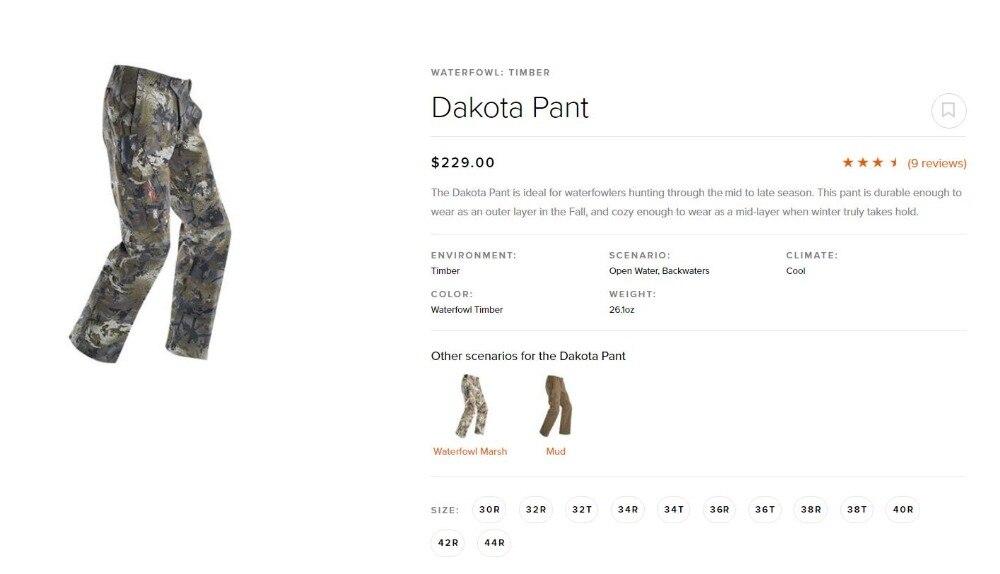 Image 4 - 2018 sitka dakota pantHunting Pants   -