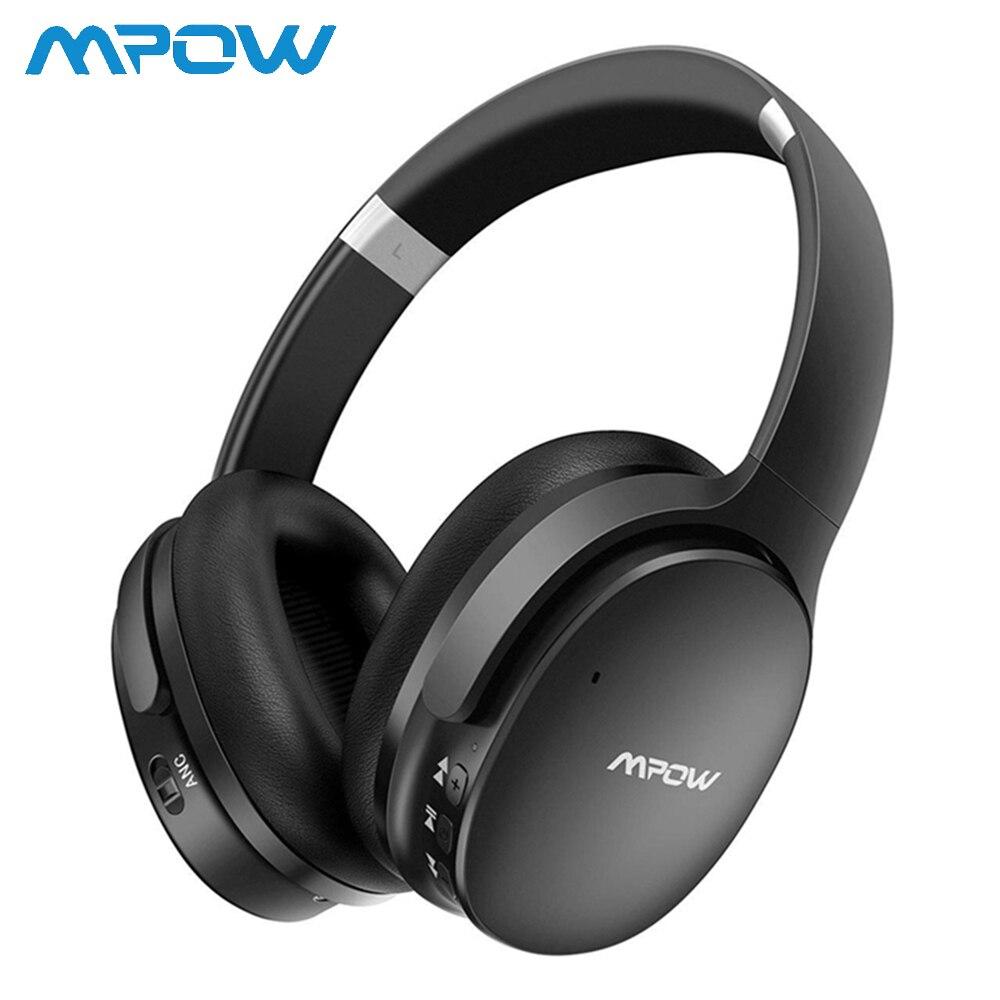 Casque Mpow H10 musique casque sans fil amélioré casque pliable avec 25H de temps de jeu casque anti-bruit actif