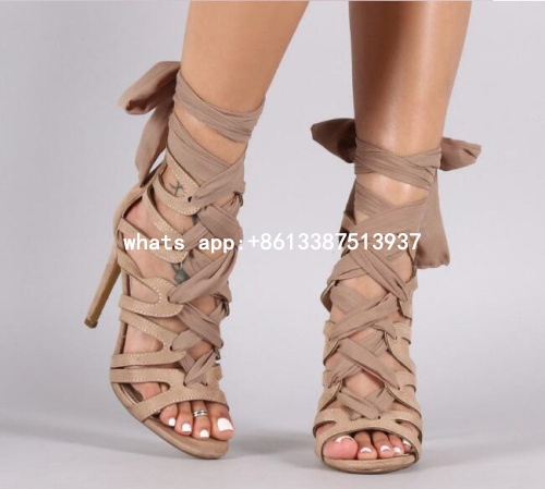 2017 Summer New Hot Women Fashion Solid Hot Pink/Nude Gladiator Cuts Out Open Toe Lace Up Back Thin Heels Party High Heel Sandal hot new yokogawa s9129fa s9129 9129 2 4v 1100mah battery back up dcs