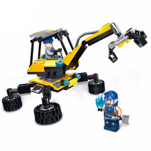 SLPF Boy Toys Assembling Engineering Team Puzzle Assembling Legoings Building Block Car Model To Insert Old Children Toy C29 цена в Москве и Питере