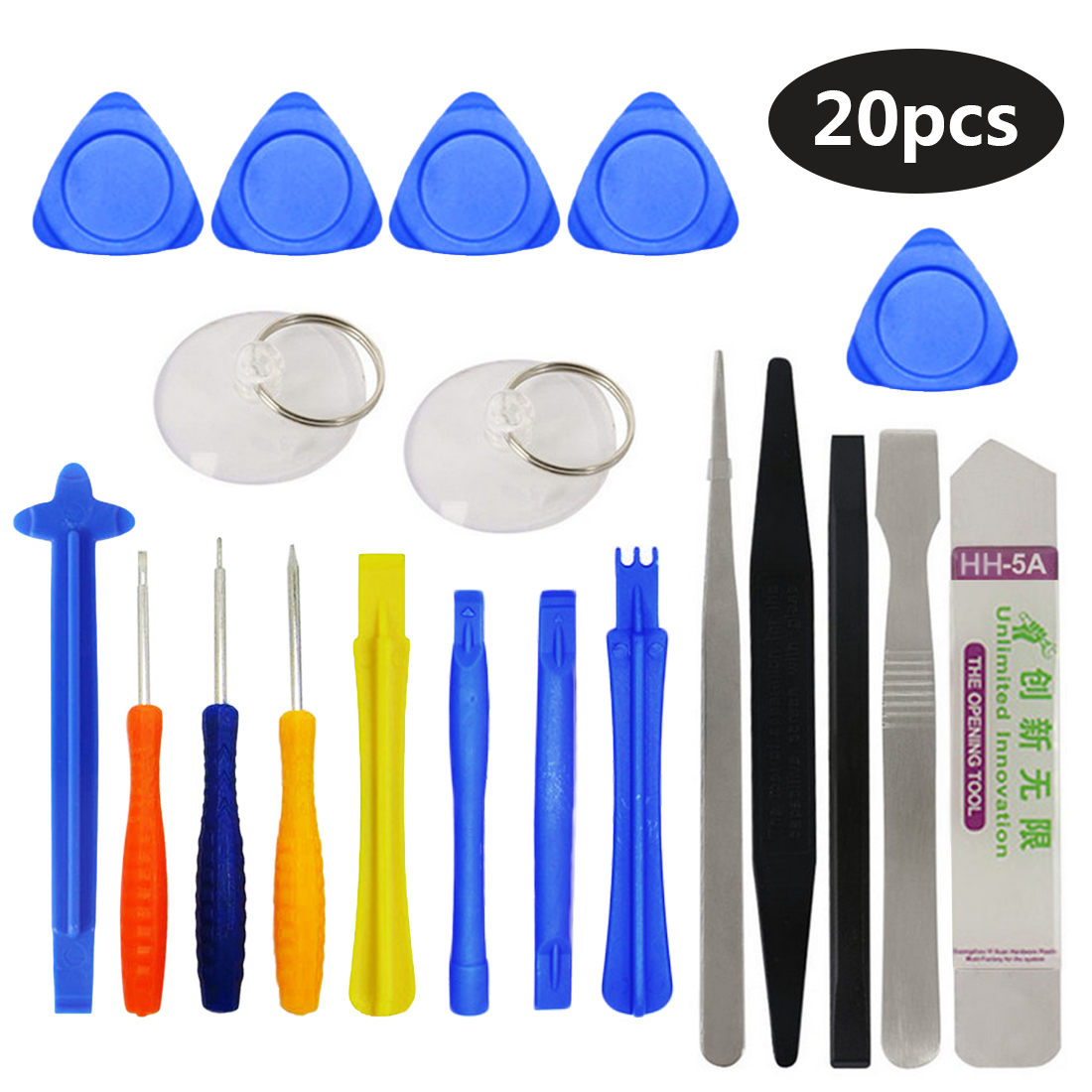 Repair Tools Kit 20 in 1 Screwdriver Set Mobile Phone Spudger Pry Opening Tool for iPhone iPad Samsung Cell Phone Hand Tools Set new professional 38 in 1 mobile phone repair tools kit opening screwdriver for iphone 5s 5 4s 4 sumsang mulitifuntion tool set