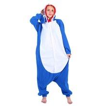 leHstyle Unisex Adult Sleepsuit One Piece Pyjamas Kigurumi Jumpsuits Halloween Fance Dress Shark