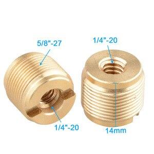 Image 5 - CAMVATE 2PCS מיקרופון Stand מתאם בורג חוט מתאם 1/4 פנימי & 5/8 חיצוני לחצובה/חדרגל צילום אביזרי חדש