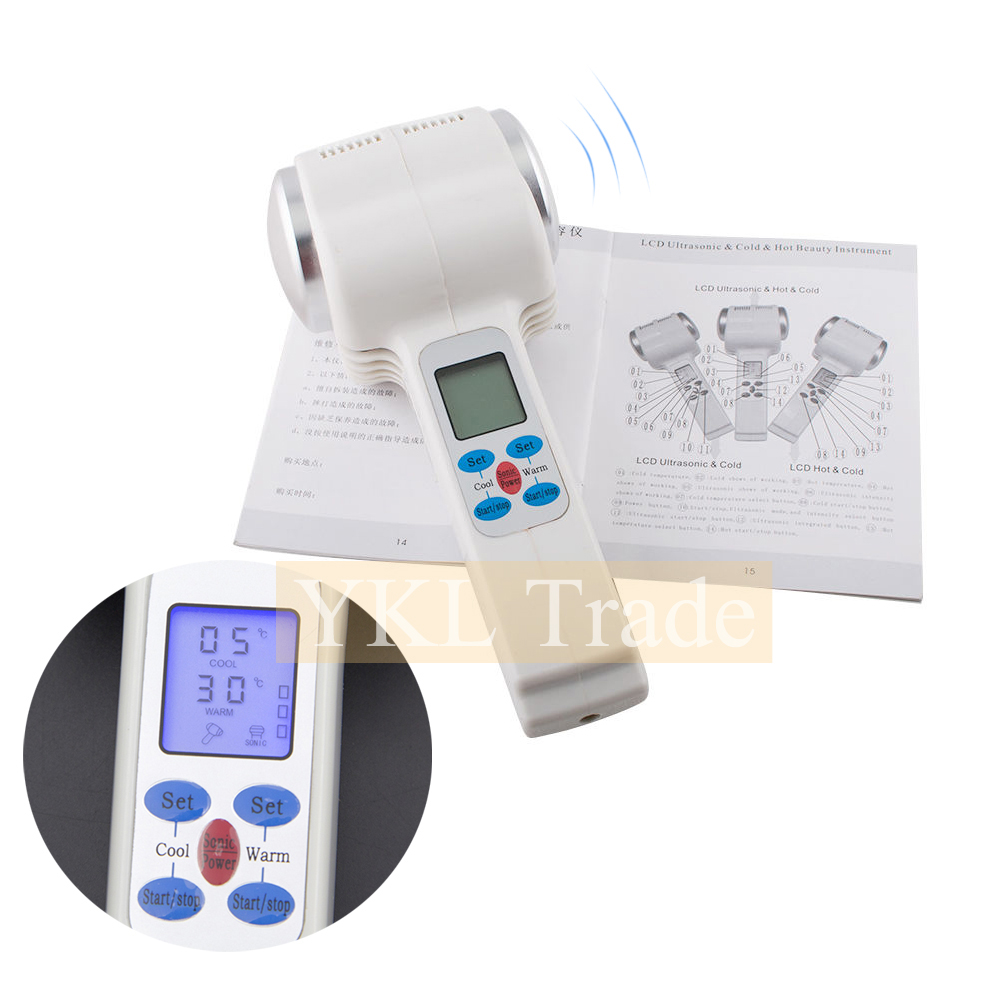 Ultrasonic Face Massager Hot Cold Hammer Facial Lifting Massage Tool Ultrasound Body Skin Tightening Wrinkle Spa Beauty Device купить недорого в Москве
