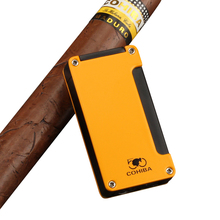 COHIBA Mini Travel Cigar Lighter Metal Windproof Cigarette Lighter 1 Jet Flame Cigar Accessories with Gift Box