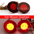 Car LED Rear Bumper Reflector Lights For Nissan Qashqai Tail Car LED Led Daytime Running Lights Automobiles Car Tail Car LED