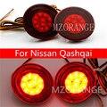 Luzes do carro LEVOU Choques Refletor Traseiro Para Nissan Qashqai Cauda carro LEVOU Luzes de Circulação Diurnas Led Automóveis Cauda Do Carro Do Carro DIODO EMISSOR de luz