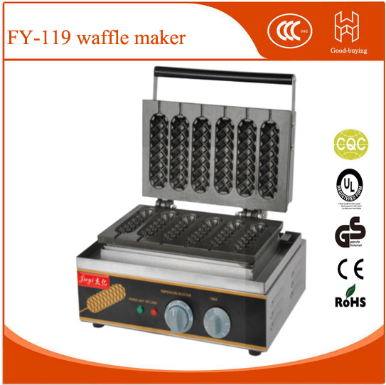 Restaurant 6pcs Non-stick stainless steel French Muffin hot dog machine Waffle maker
