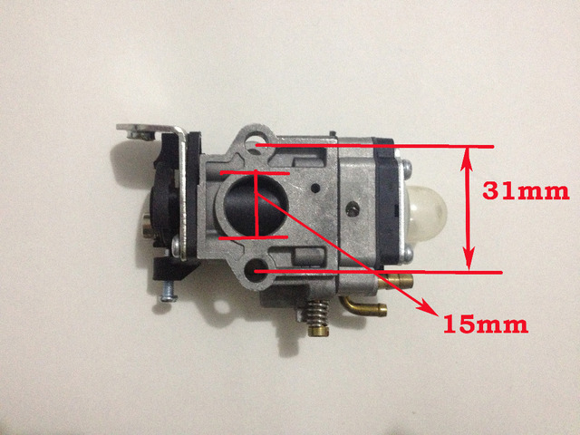 5PCS X  40-5 15mm Carb Brush Cutter Carburetor 36cc 43cc 52cc 2 Stroke Grass Cutter Trimmer Sprayer Engine Mitsubishi TL43 TL52