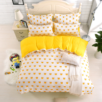 Hundred Chemical Fiber Light 4 Times A Quilt Cover A Sheet Two Pillow Cases Wave Point