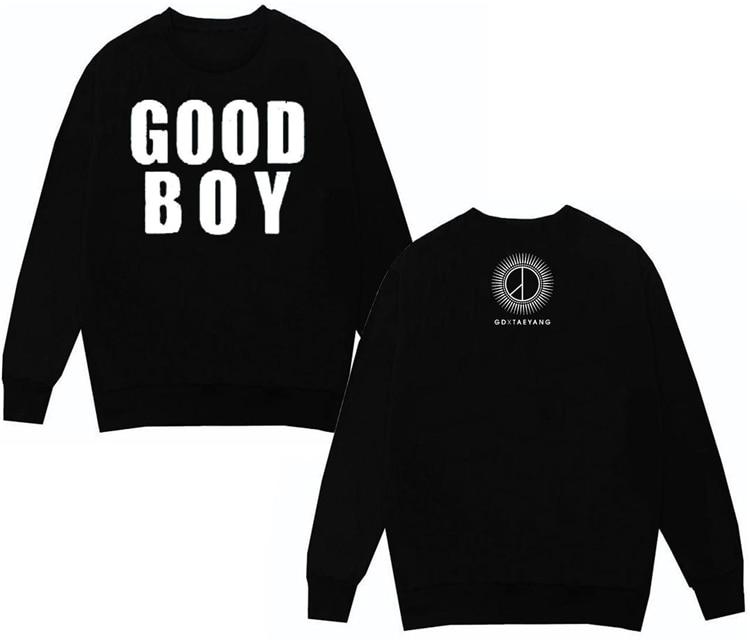 bigbang made hoodie kpop big bang k-pop Bigbang fleece and GD new song Good Boy with nofleece g dragon Female Autumn And Winter