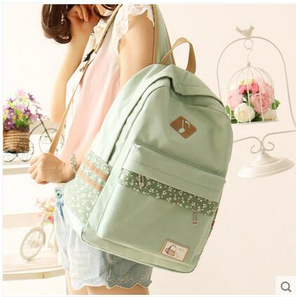 Canvas shoulder bag female student bag backpack Japanese and Korean version of the wave of leisure