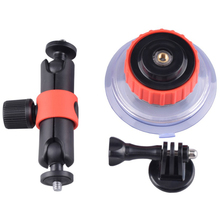 Universal Flexible Strength Pivoting arm Bracket Suction cup Holder Mount Stand Sport Action Camera For Gopro Yi SJCAM T10