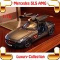 Новое Поступление Подарок Mercedes SLS AMG 1/18 Большой Металлический Коллекция Моделей Автомобилей Сплава Автомобиля Подробнее Украшения Дома Гонки Игрушки