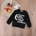 2017 Casual Infant Boys Girls Hoodies Pullover Child O-neck Long Sleeve Hooded Tops Black wholesale retail