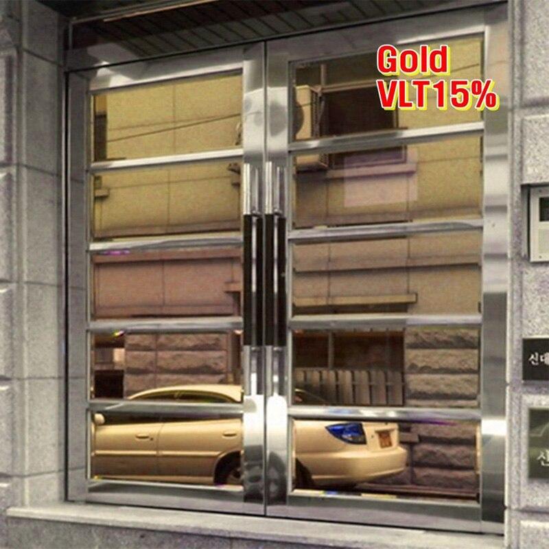 Popular gold window film buy cheap gold window film lots for Gold window mirror