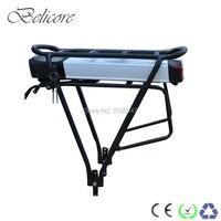 EU US AU no tax E bike battery pack rear rack 36V 10ah 12Ah 250W li ion battery with 2a charger and luggage rack