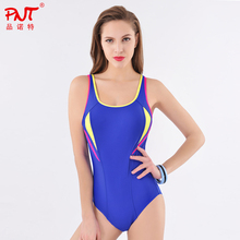PNT021 Swimwear Women One Piece Sport Bikini 2016 Summer High Waist Girl Biquinis Factory Free Shipping sports Type Swimsuit
