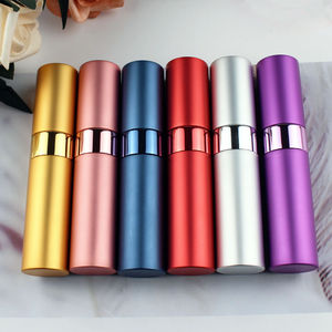 Image 1 - 1PC Top Quality 15ML Aluminum Perfume Bottle Empty Refillable Spray Perfume Atomizers Bottles Free Shipping