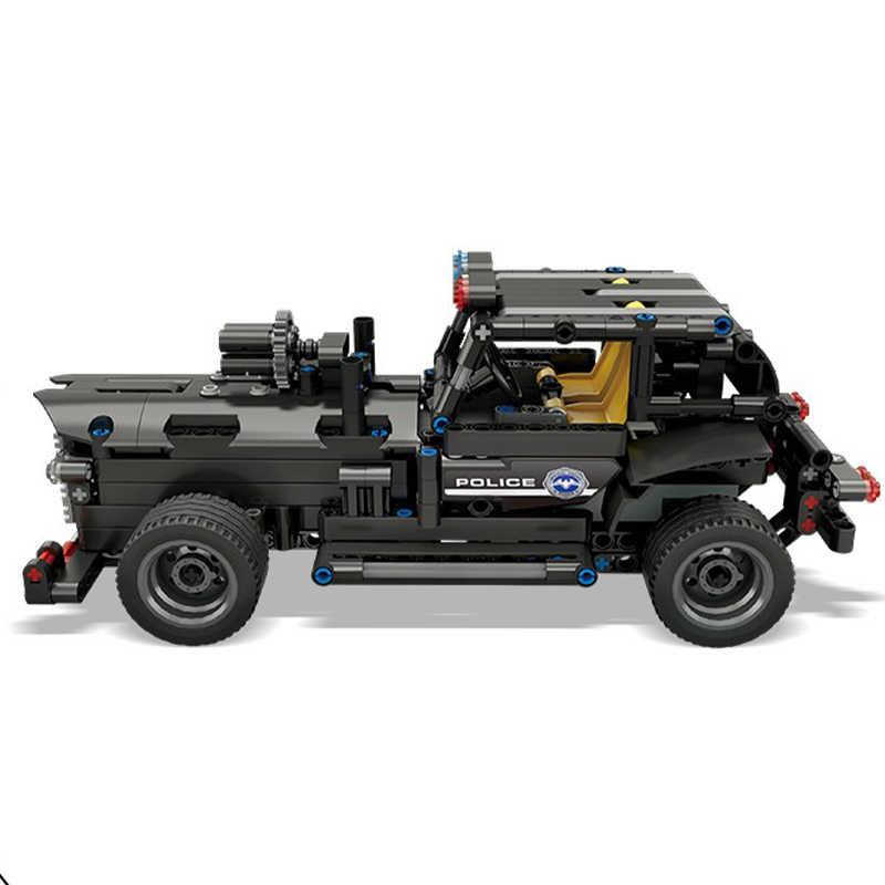 Yeshin 13007 SWAT pojazd dowodzenia kompatybilne z lego Technic samochód klocki klocki z USB elektryczny zabawki dla dzieci