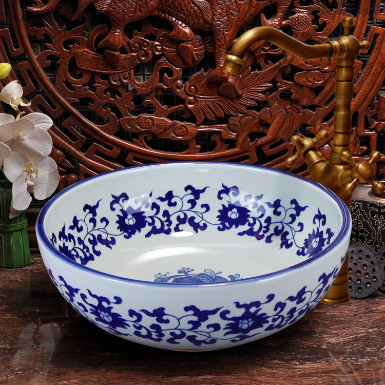 China Artistic Handmade Blue And