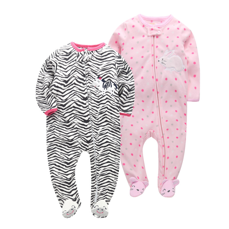 Orangemom 2019 baby girl jumpsuits super soft Pajamas for baby girls clothes 6M -24M roupas infantis menina fleece   rompers