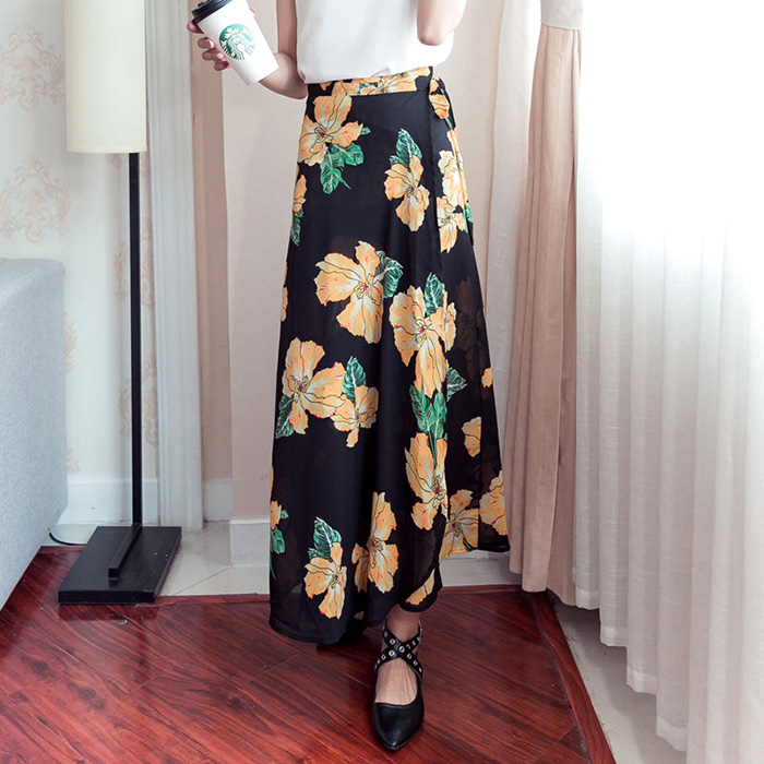 Boho Asymmetrical Chiffon Maxi Long Skirts 35