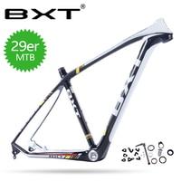 BXT 29er углеродный велосипед Рамка BSA 15,5/17,5/19/20,5 дюйма рамка + гарнитура + зажим сиденья + алюминиевая часть + сплав через ось quick release