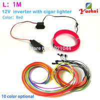 2016 New 2 3mm Skirt 1Meter Energy Saving Cars Decoration Electroluminescent Neon Glowing Light By DC