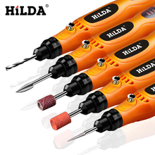 HILDA 3.6V Mini Drill Cordless Rotary tool With Grinding Accessories Set Multifunction Mini Engraving Pen For Dremel tools