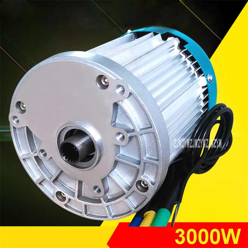 60V 3000W 4600RPM Permanent Magnet Brushless Differential Speed DC Motor Electric Vehicles, Machine Tools,  Accessories Motor js zyt 19 permanent magnet dc motor speed 1800 rpm high speed miniature single phase dc motor dc220v 200w