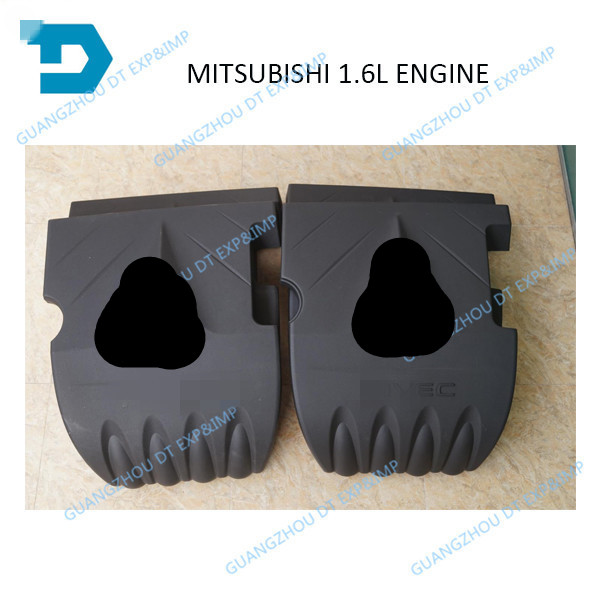 lancer 1.6L engine cover for mitsubishi lancer 1.6L engine dust cover 2007-2017 and 2005-2006 26usd set with bolt автомобильный коврик boratex brtx 1036 для mitsubishi lancer 10 2007