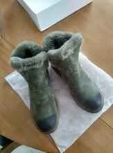 2016ใหม่เสื้อผ้าแบรนด์ฤดูหนาวหนังแกะธรรมชาติขนผู้หญิงหิมะรองเท้าข้อเท้าหนังแท้ซิปอุ่นให้รองเท้าGN10