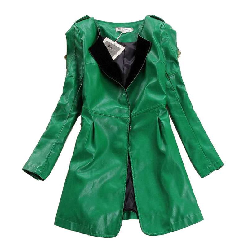 Compare Prices on Women Pu Leather Trench Coat- Online Shopping ...