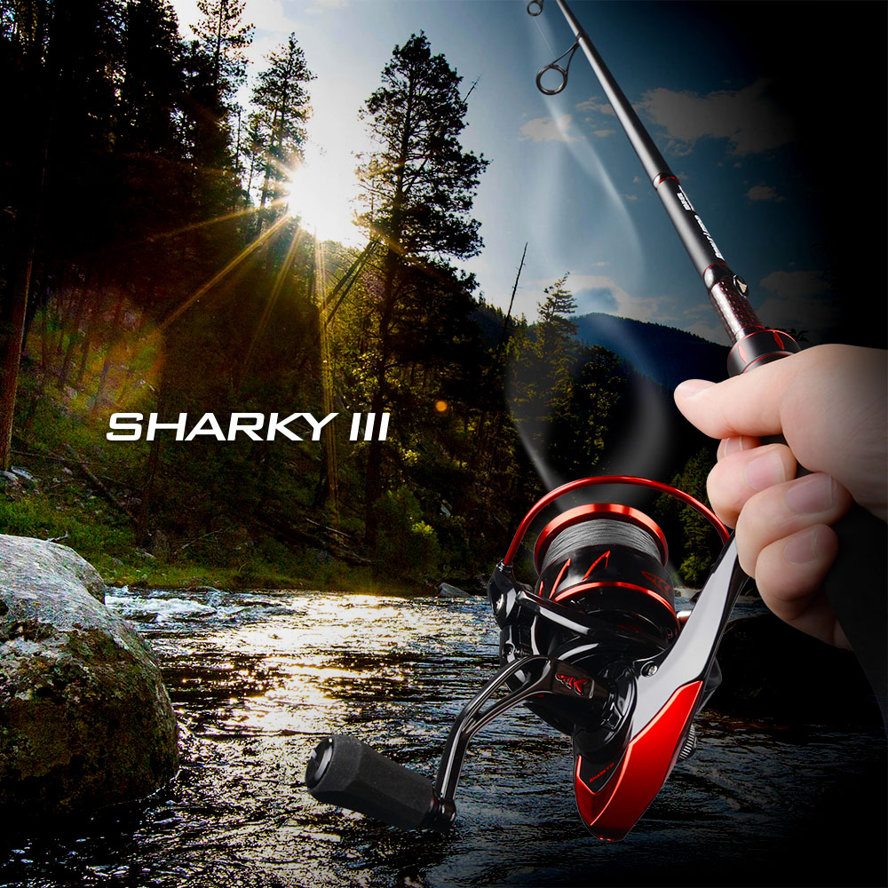 KastKing Sharky III Innovative Water Resistance Spinning Reel 18KG Max Drag Power Fishing Reel for Bass Pike Fishing 6