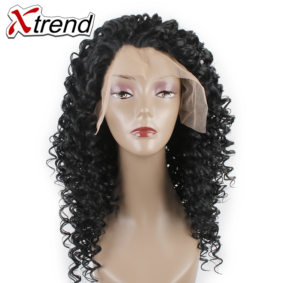 Xtrend Synthetic Deep Wave Hair Wig Natural Black 18