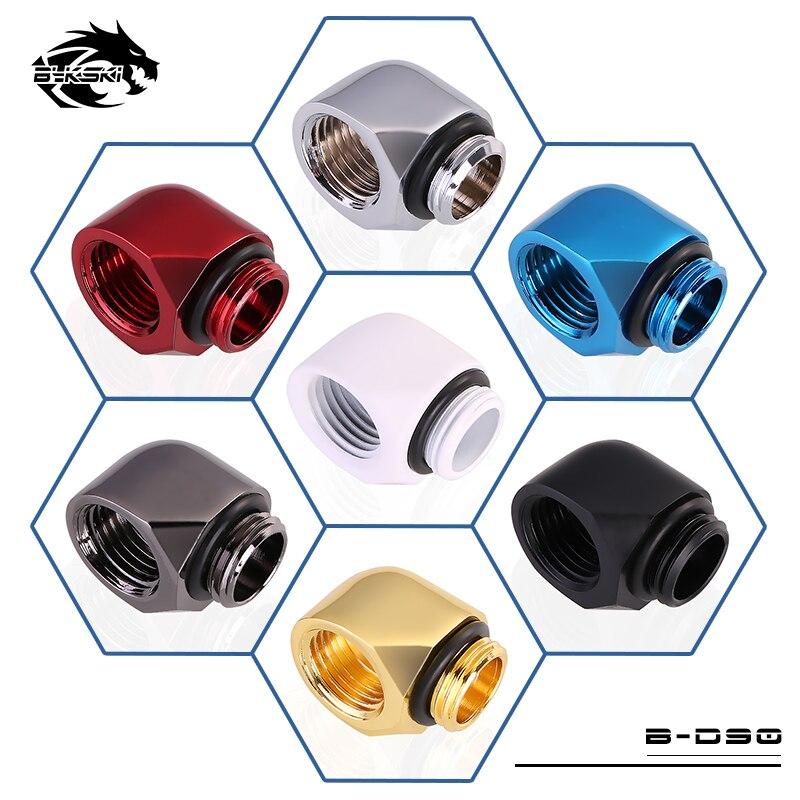Bykski 90 Degree Elbow Fitting Adapter 1 Female + 1 Male Rotate Fitting G1/4'' Thread B-D90