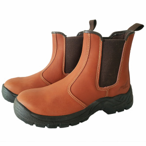 Image 4 - big size men fashion steel toe cap work safety shoes genuine leather platform tooling security ankle boots slip on zapato hombre