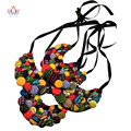 Ankara African Button Necklaces African Clothings African Button Necklaces Button African Multistrand Necklace BRW WYA055