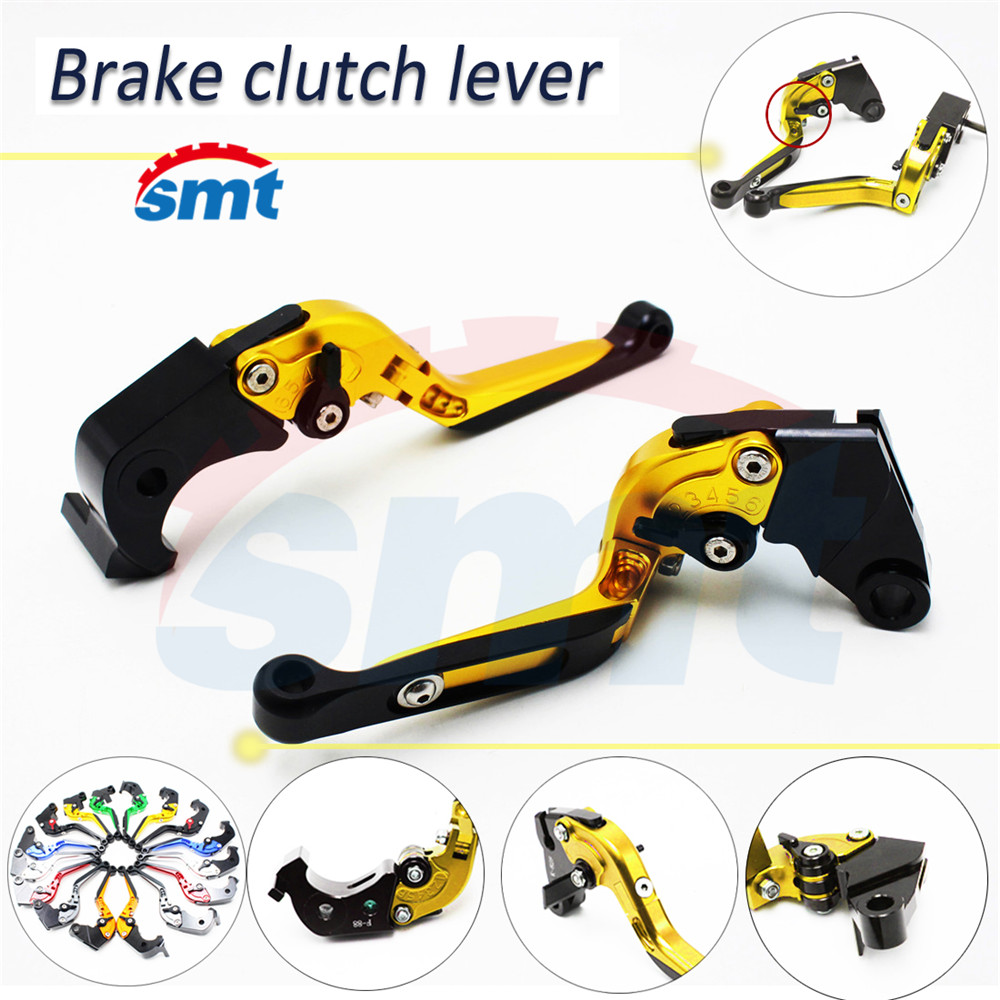 motorcycle brake lever xj6 foldable brake clutch levers golden For HONDA CB600F Hornet 2007 2008 2009 2010 2011 have 8 colors