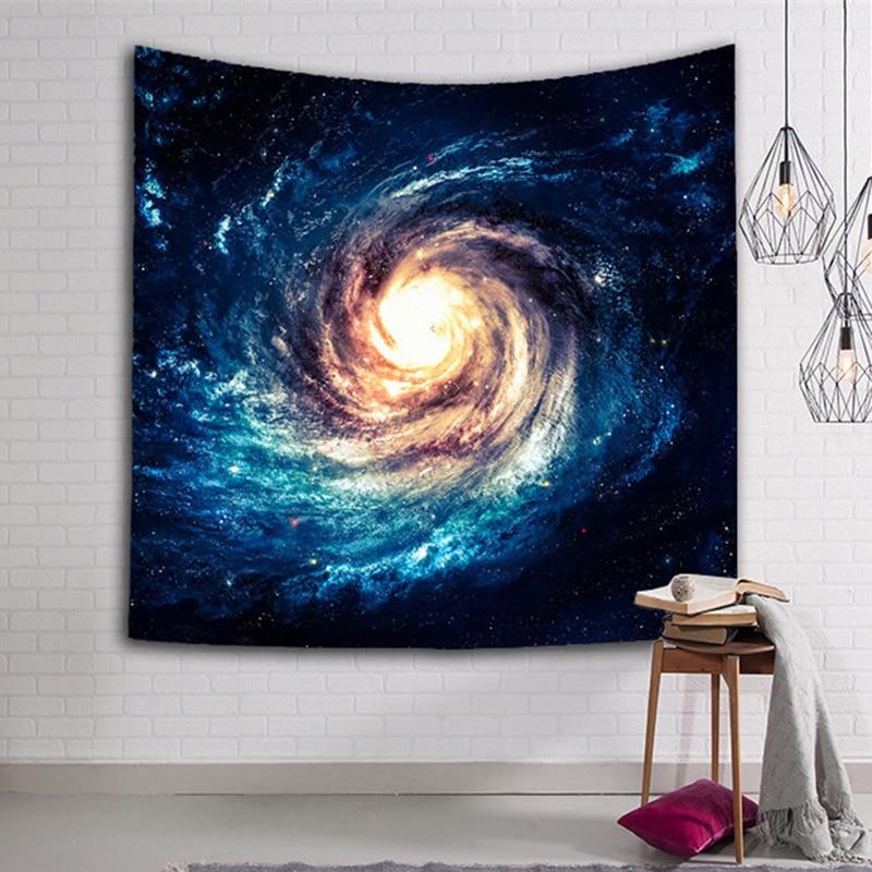 Erstaunlich Galaxy Wand-dekor Hängende Tapestry Mandala Tuch Yoga-matten 4 Größe Personalisierte Dekoration Strand Werfen Teppiche