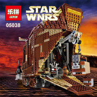 IN STOCK LEPIN 05038 3346Pcs Star Wars Force Awakens Sandcrawler Model Building Kit Minifigure Blocks Brick