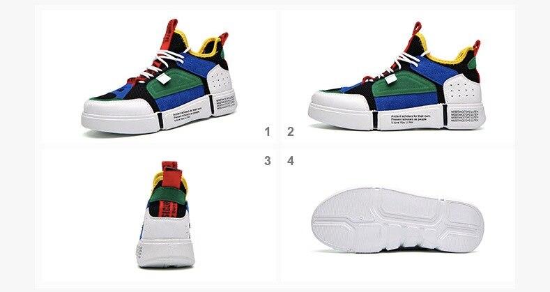 Men Casual Shoes 2018 Spring Autumn Men Shoes Breathable Mesh+Leather Patchwork Flats Footwear Men Sneakers Shoes20180615-180002