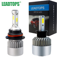 LEADTOPS H4 Led 9003 HB2 4 COB Car Motorcycle Headlight Bulb High Low Beam 36W 3500LM