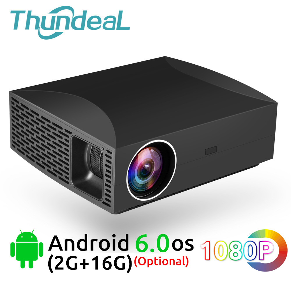 F30 ThundeaL Full HD Projetor Nativo 1920x1080 5500Lumen 3D Vídeo LED LCD Opcional F30 UP Wi-fi Android bluetooth F30Up Beamer