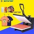 Wtsfwf 38*38 см термопринтер высокого давления машина для печати 2D Термопринтер для футболок