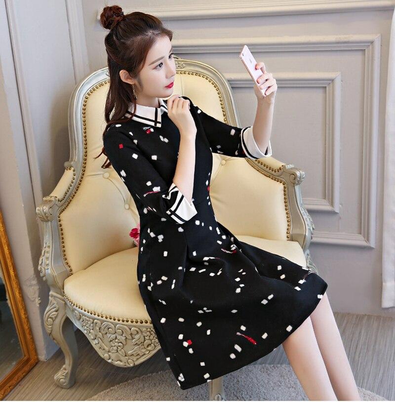 Style Xxl M rose Courte Arrivée Robe Printemps L Noir Qipao Chinoises Noir Taille Femmes S Cheongsam Nouvelle Mode Robes Mini Automne Xl 6c5884 axF8qHwnC