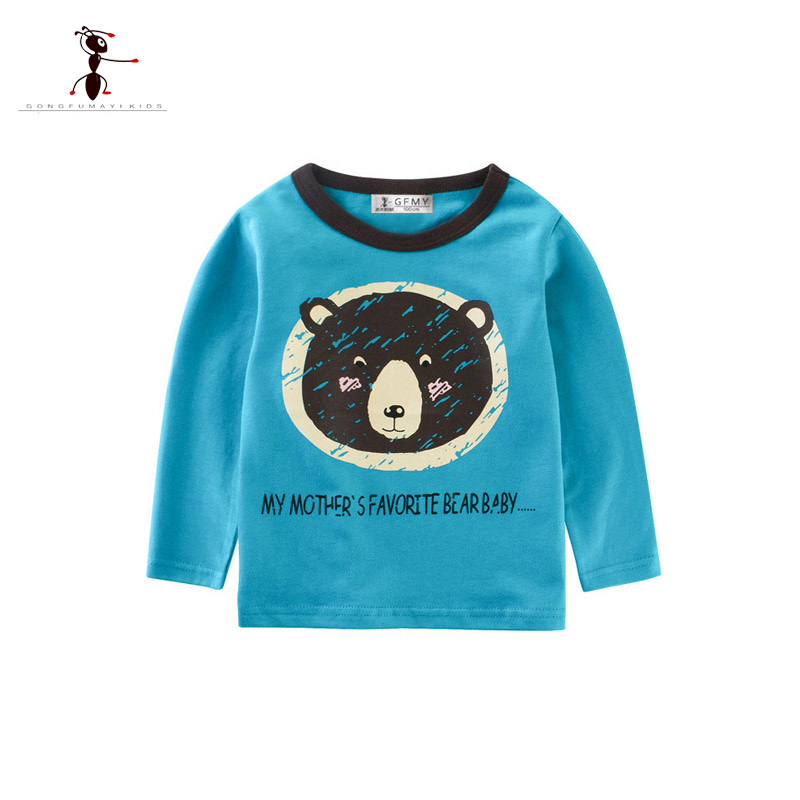 New Spring 2018 Boys t-shirt Children T shirt Baby Girl Tops cardigan T shirts Blouse clothes kids cartoon Tops&Tee for 2~10T retail design children clothing set for kids girl dark blue cardigan t shirt pink skirt high quality 2014 new free shipping